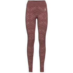 Odlo Natural + Kinship Warm Pants Women roan rouge melange